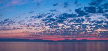 Východ slnka v Moraitike a Messonghi