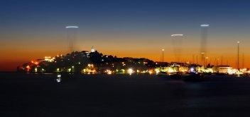 Nočný pohľad na Primošten