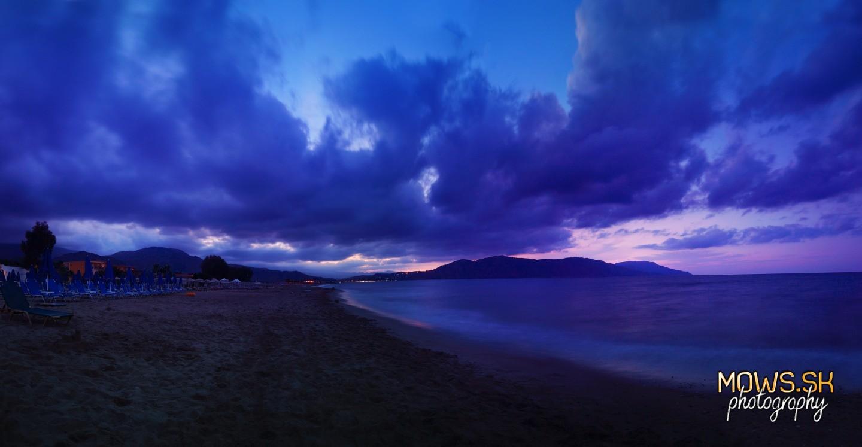 Romantická pláž na Kréte