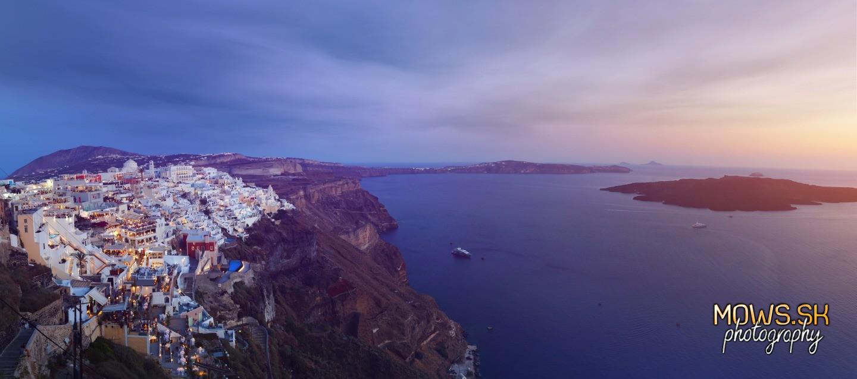 Večer na Santorini